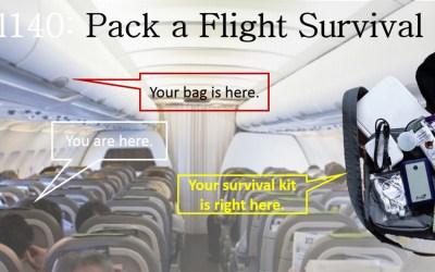 Pack an In-Flight Survival Kit