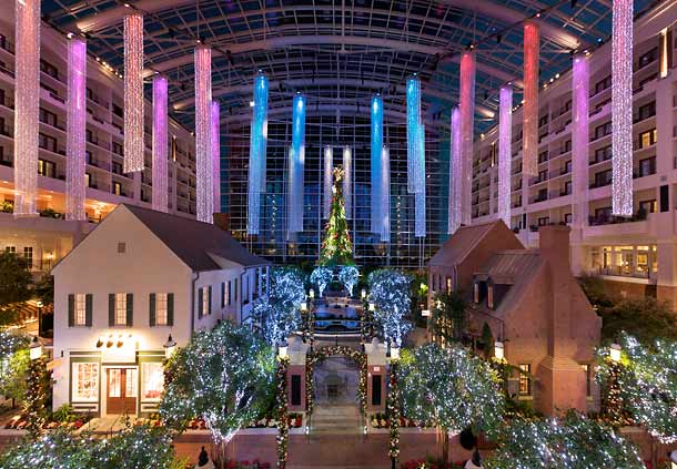 Gaylord National Atrium at Christmas