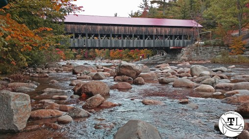 The Swift River under the Albany Covered Bridge