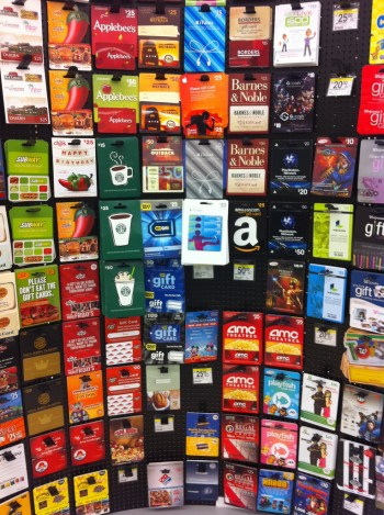 Photo: Gift card display