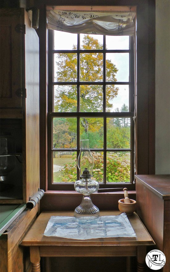 A lamp in the window of the Russell-Colbath House, via @TravelLatte