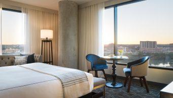 Hotel Van Zandt King Spa Suite View via @TravelLatte
