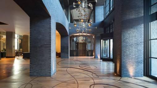Hotel Van Zandt Welcome Lobby via @TravelLatte