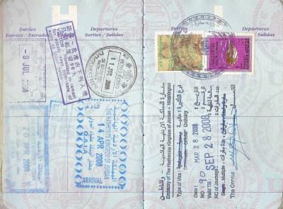 Filled passport pages via @TravelLatte.net