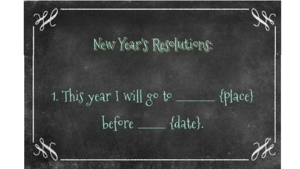 New Year's Travel Resolution #1 - Go Here - via TravelLatte.net