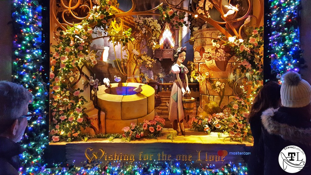 Saks celebrates Snow White - Christmas in New York via TravelLatte.net