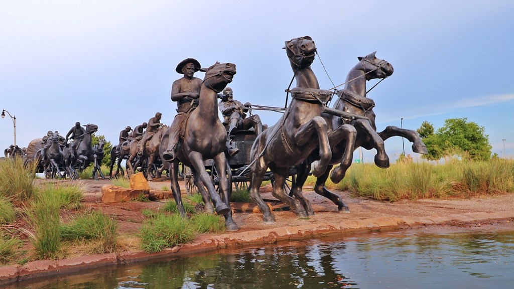 Centennial Land Run Monument in Art Scene OKC: The Best Places to See Oklahoma City Art