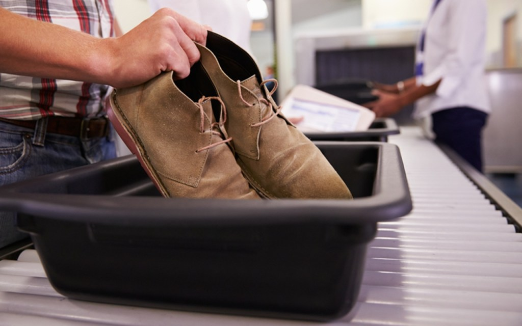 Dressy shoes in the bin: How to Get Through Airport Security Fast via @TravelLatte.net