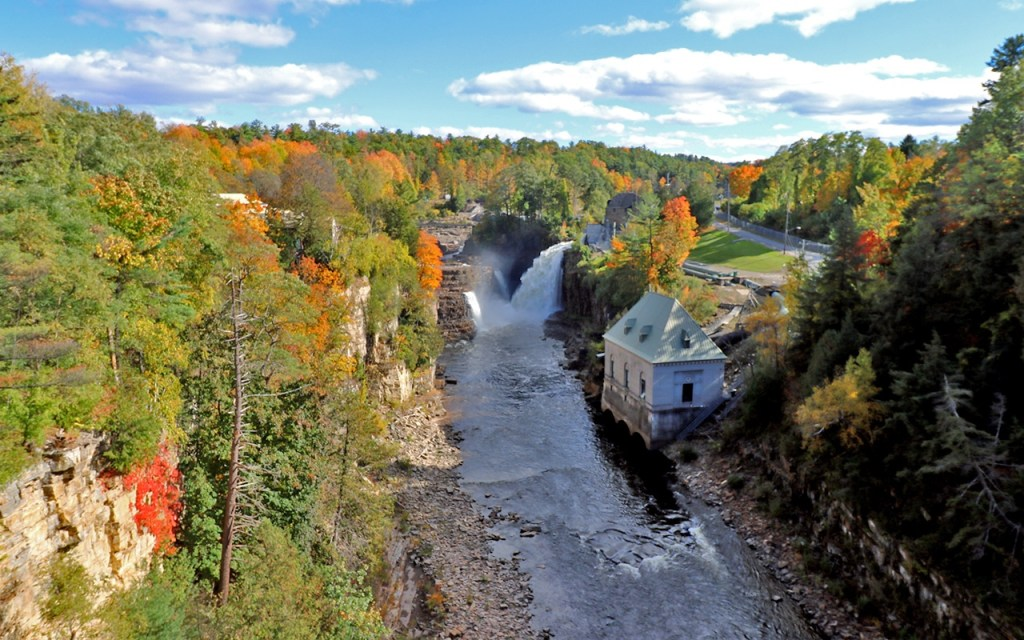 Rainbow Falls & the Ausable River - Visiting Ausable Chasm, the Adirondack's Grand Canyon - TravelLatte
