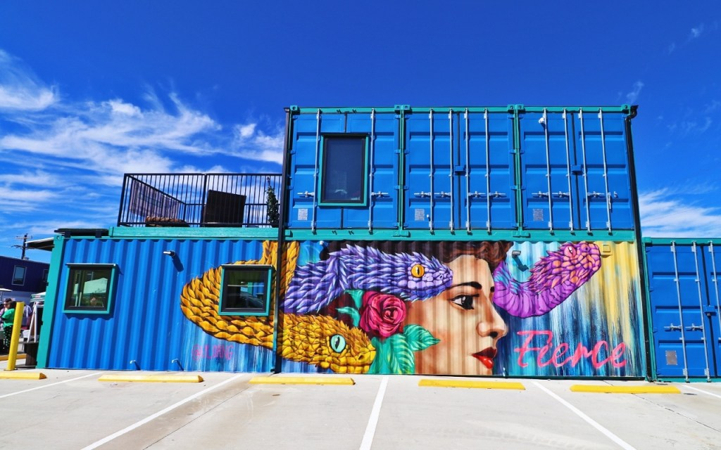"""Fierce"" mural by Luis Angulo - Brilliant Street Art in the Design District of Fort Worth at TravelLatte.net"