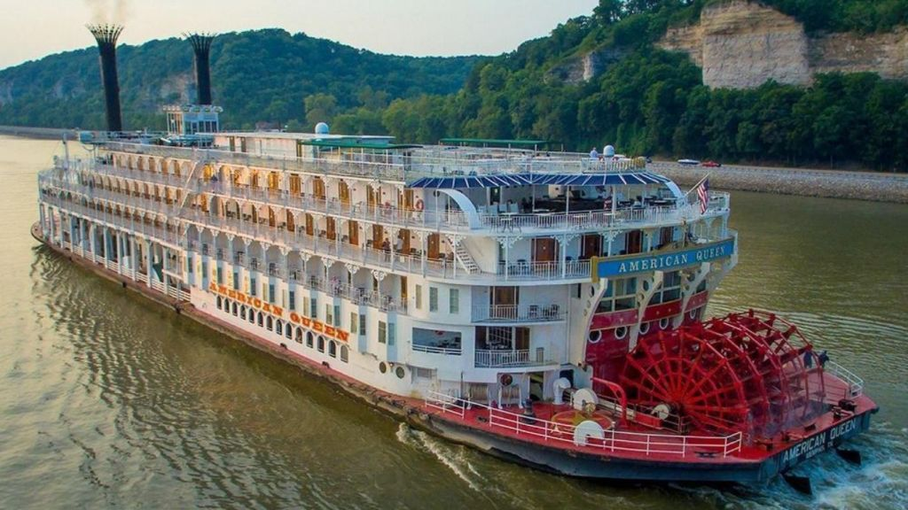 Photo of the American Queen river boat.