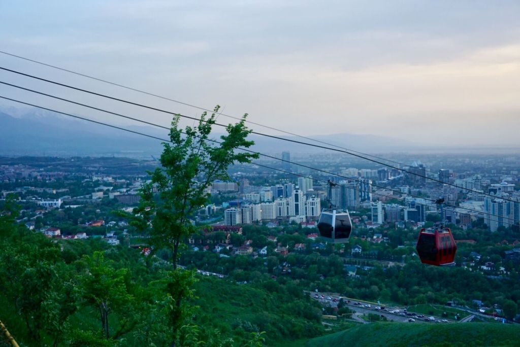 A cable car over Almaty (Visit Almaty)