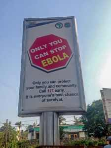 Fighting Ebola: a public health sign in Seirra Leona