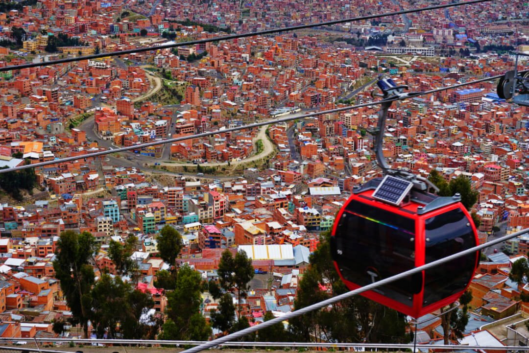 Top Places to Visit in South America _ La Paz Bolivia Cable Car