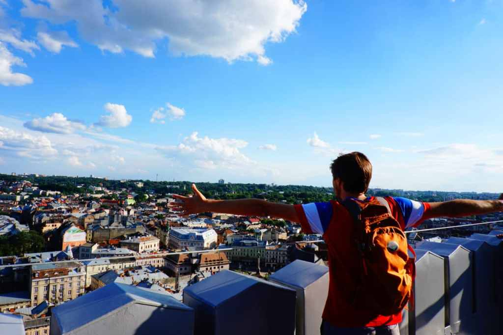 Best Time to Travel to Europe: Looking out over Lviv