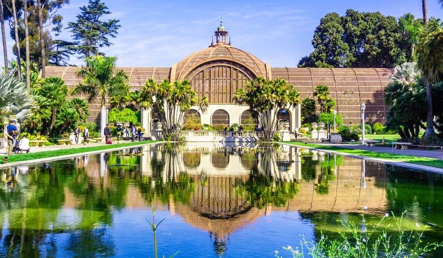 View of botanical garden in Balboa Park
