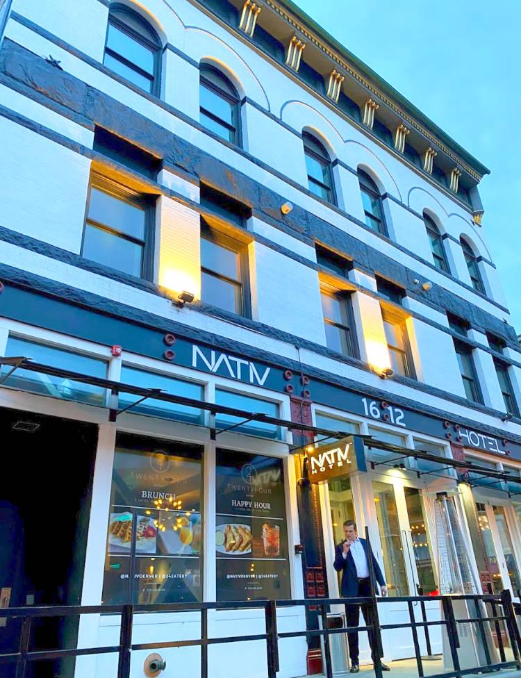 View of the exterior of Denver's NATIV Hotel
