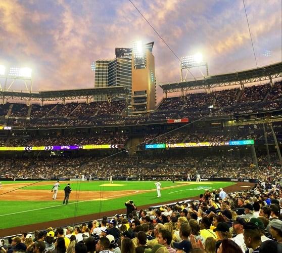 View of a baseball game at Petco Park