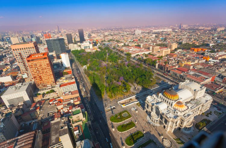 View of Mexico City from Torre Latinoamerica