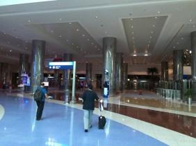 Corridor towards the elevators