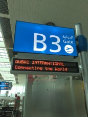Gate signage
