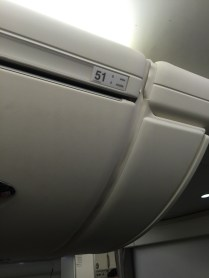 Row 51 overhead locker