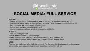 @TravellersID Social Media Services - Full