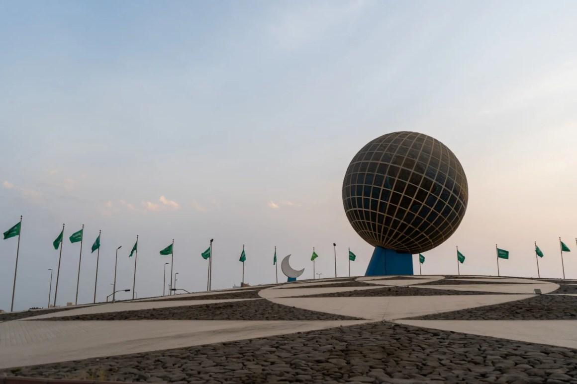 Globe rotonde in Jeddah Saoedi-Arabië
