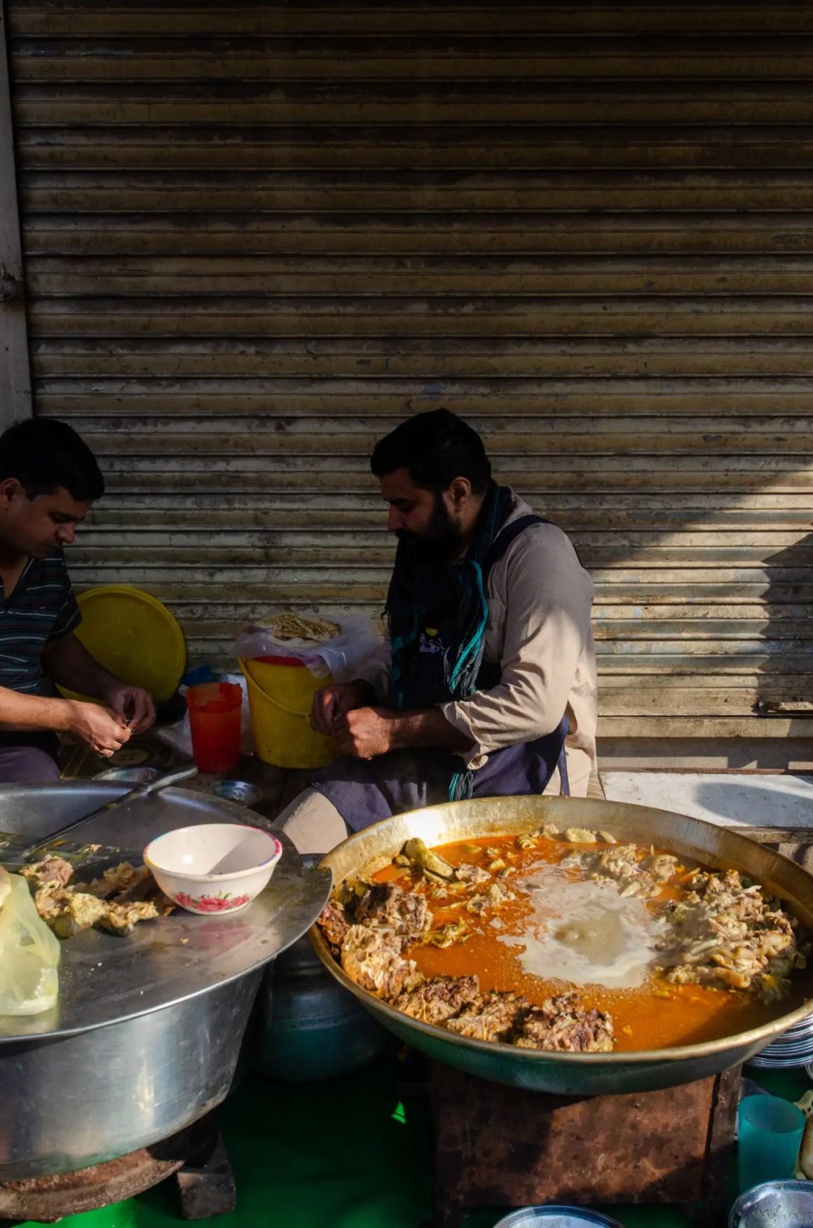 Nihari straatvoedsel Pakistan