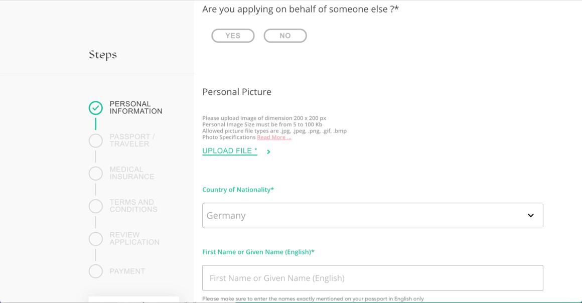 Registratie voor het toeristenvisum voor Saoedi-Arabië