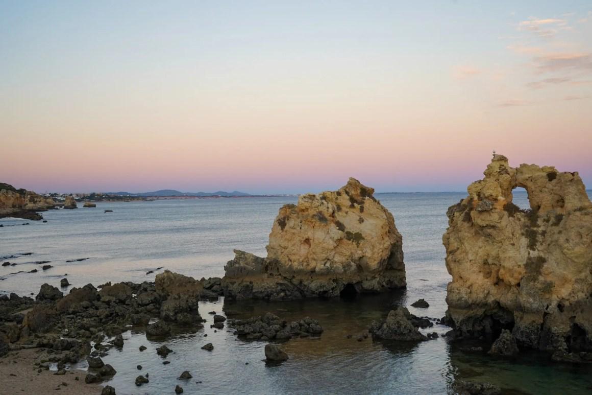Zonsondergang bij Albufeira.