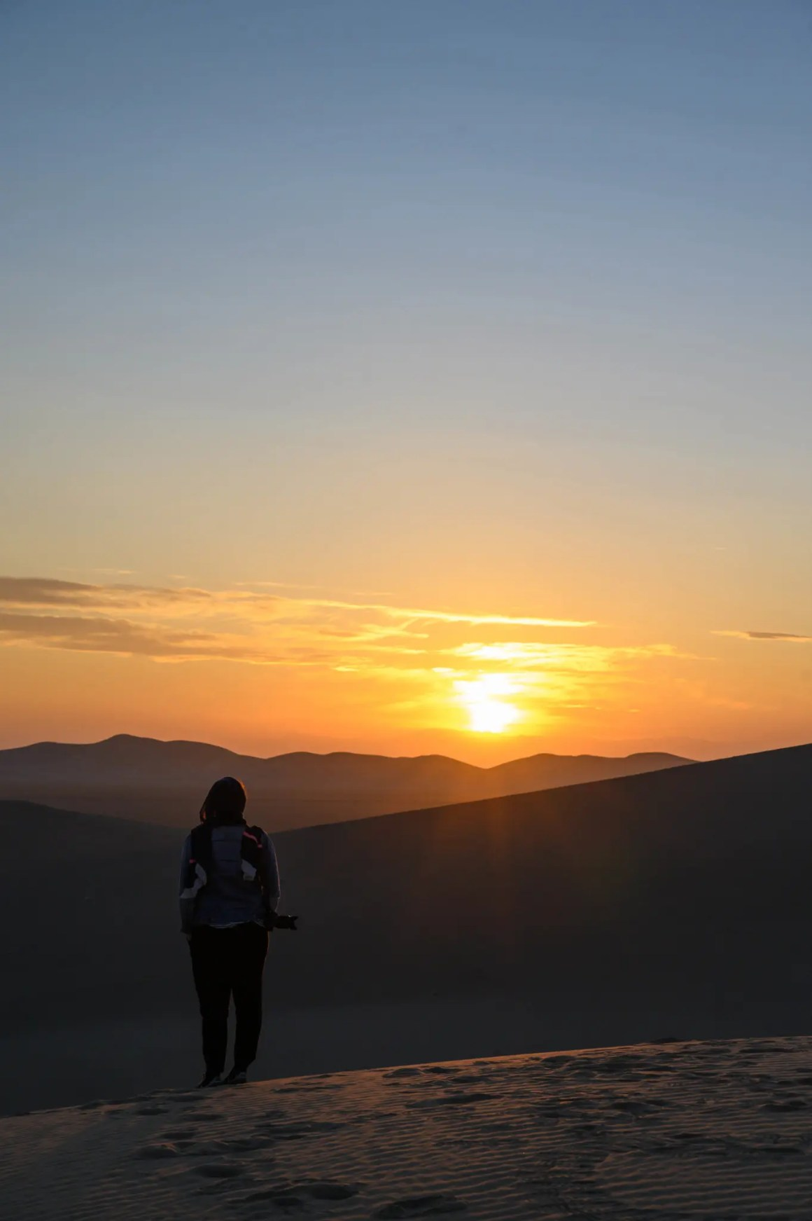 Zonsondergang Varzaneh Desert