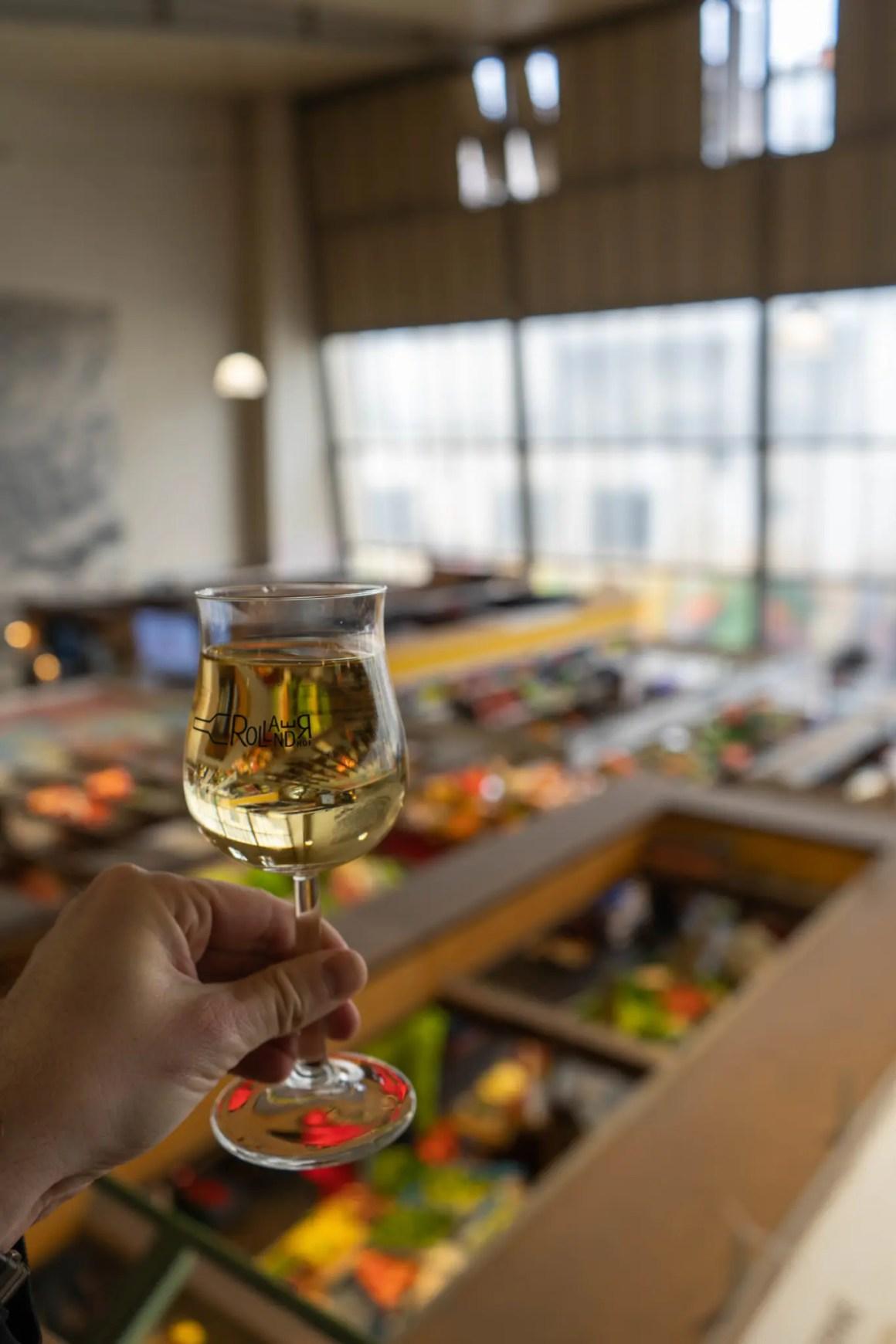 Witte wijn Kleinmarkthalle Frankfurt