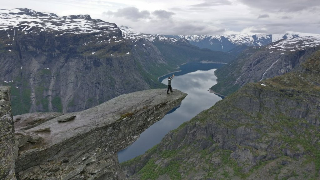 The famous Trolltunga shot