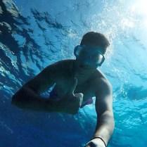 Underwater shooting in Kefalonia island
