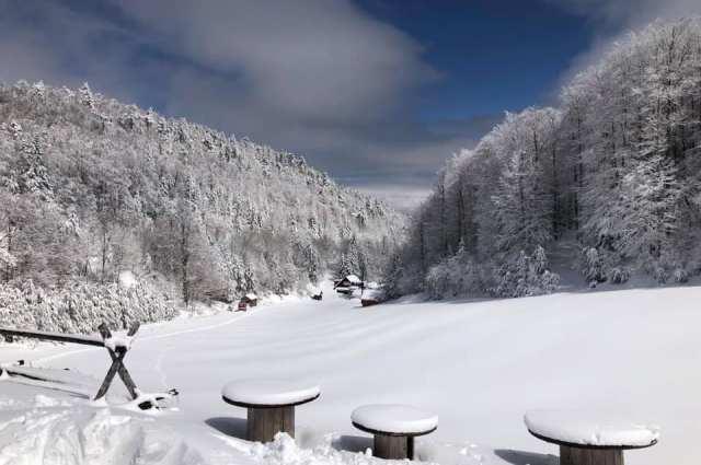 Χιονισμένες εικόνες από τα χιονοδρομικά μας κέντρα μας ταξιδεύουν το μυαλό
