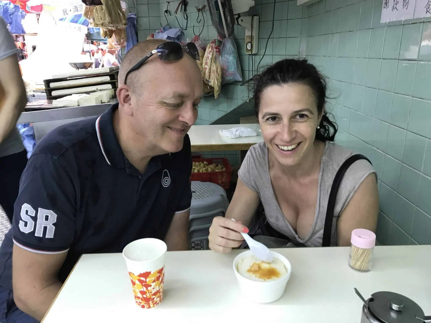On a food tour in Hong Kong