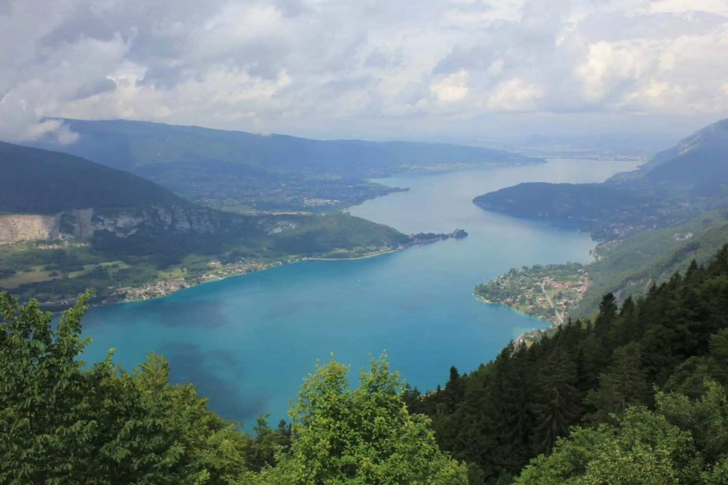 View over the lake Annecy