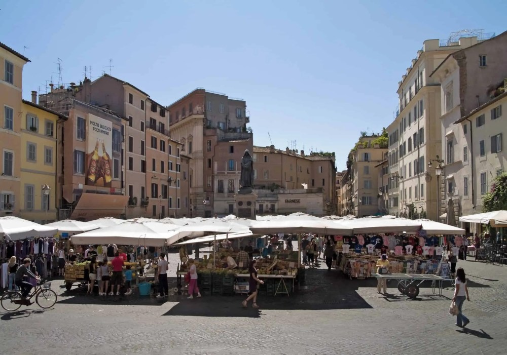Campo de' Fiori market in Rome, things to do in Rome, St. Peter's Square, St. Peter's Dome in Rome, visit Rome in winter, Rome in winter, winter in Rome, Vatican city, 2-3 days Rome itinerary