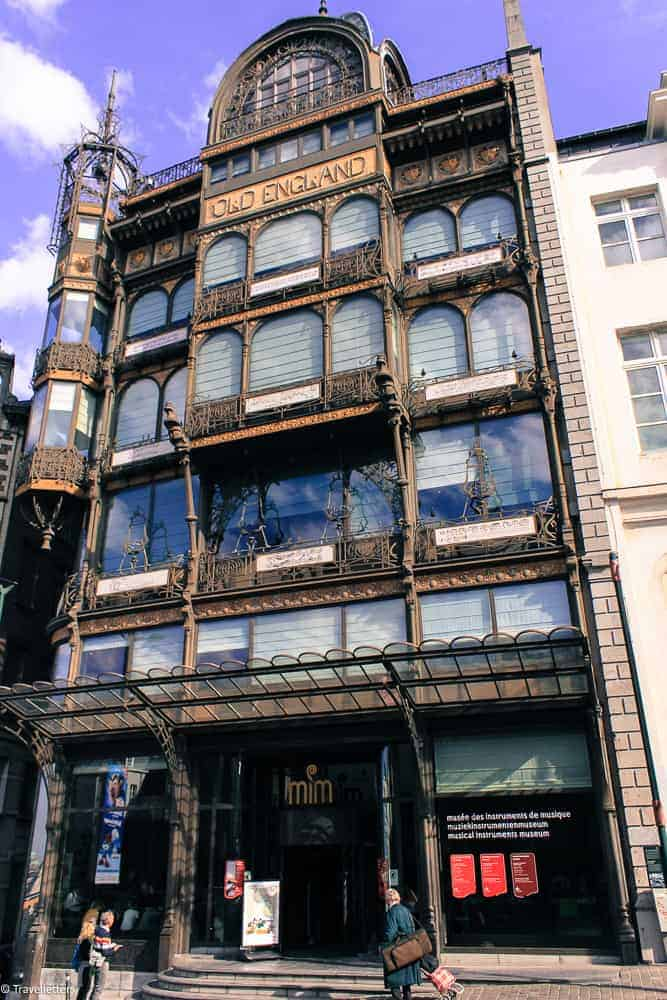 Arkitekturen til MIM-musical instrument museum i Brussel