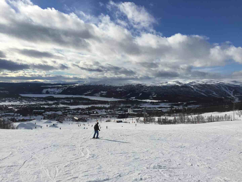 Downhill slope at Beitostølen Norway, ski resort in Norway
