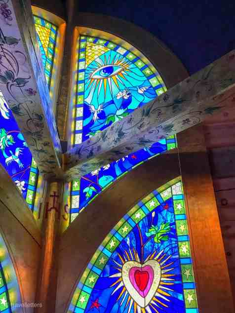 Glass paintings in the Chapel of Lights