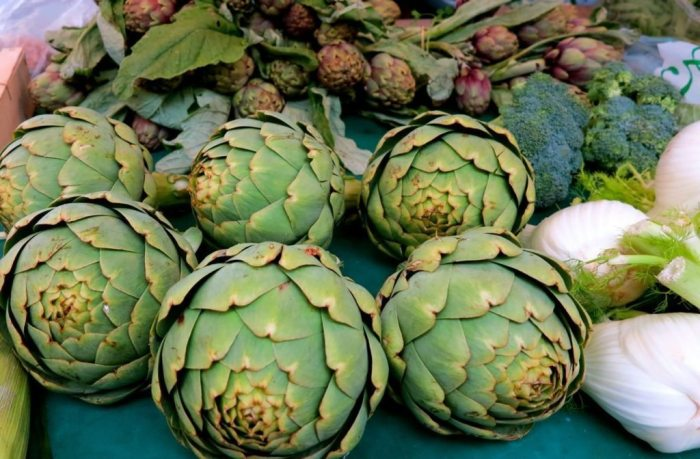 Artichokes from the President Wilson market