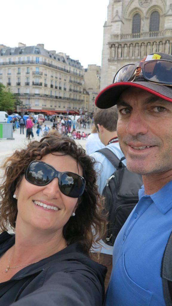 Andrew and I outside Notre Dame