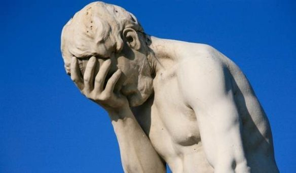 Statue disappointed