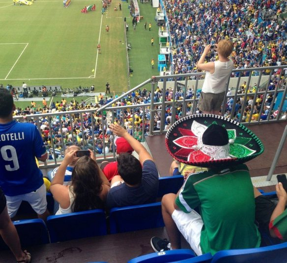 Mexican fan at the Uruguay v Italy game