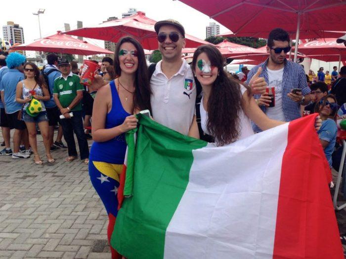 Italian fans in Natal (v Uruguay)