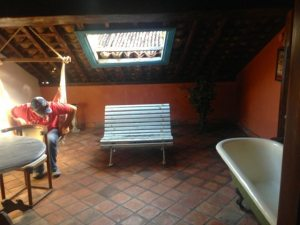 Our loft courtyard with a bath
