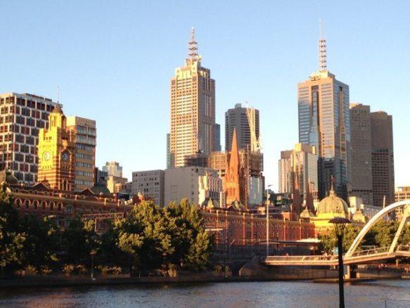 Melbourne Yarra River and City Skyline