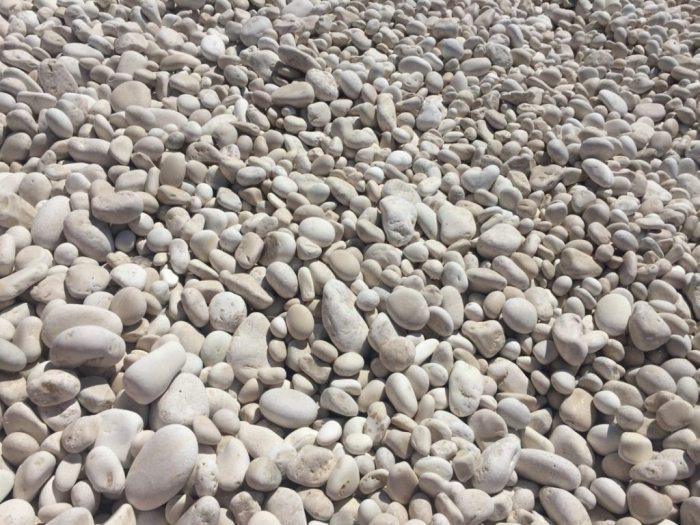 The pebbles at Myrtos Beach